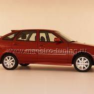 Накладка на порог Torino для Лада Приора в цвет автомобиля., фото 1
