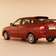 Задний бампер Torino для Лада Приора хетчбек в цвет автомобиля., фото 1