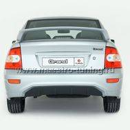 Задний бампер Grand для Лада Приора седан в цвет автомобиля., фото 1