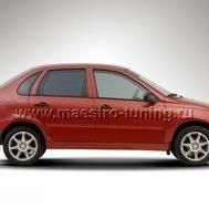 Накладка на порог Anry для Лада Калина в цвет автомобиля., фото 1