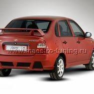 Задний бампер Anry для Лада Калина седан в цвет автомобиля., фото 1