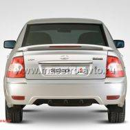 Задний бампер Galant для Лада Приора седан в цвет автомобиля., фото 1