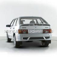 Задний бампер Samara Trek для ВАЗ 2113-14 ( Лада Самара 2 ) седан в цвет автомобиля., фото 1