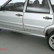 Накладка на порог Samara Trek для ВАЗ 2114-15 ( Лада Самара 2 ) в цвет автомобиля., фото 1
