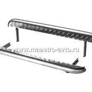 Защита порогов с алюминиевым листом 63,5 мм ВАЗ 21214, фото 1