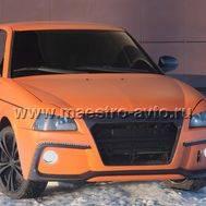 """Передний бампер """"Fresh"""" для Лада Приора в цвет автомобиля, с ресничками., фото 1"""