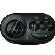 Блок управления светотехникой Лада Калина 11180-3709820, без кнопок включения ПТФ., фото 1