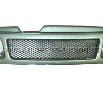 Декоративная решётка радиатора Ваз 2108 - Ваз 21099 в цвет автомобиля с противотуманными фарами. (ДРР09-Ф)., фото 1