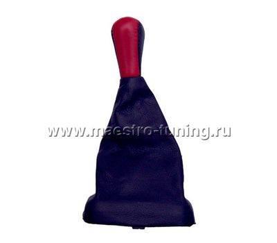 Ручка КПП с пыльником ВАЗ 2113-14-15, красная., фото 1