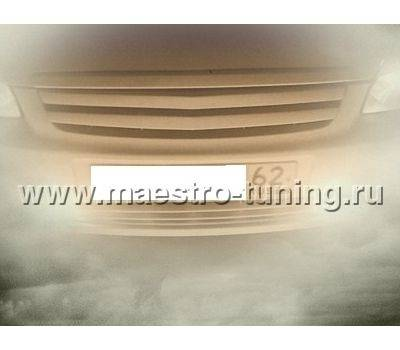 Декоративная решётка радиатора Лада Приора в цвет автомобиля, 2 лопости.(ДРРП-2Л1)., фото 2